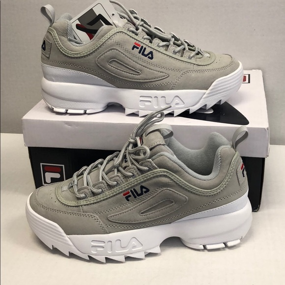 a7c9b84506d Fila Shoes | Disruptor 2 Premium Suede Grey | Poshmark